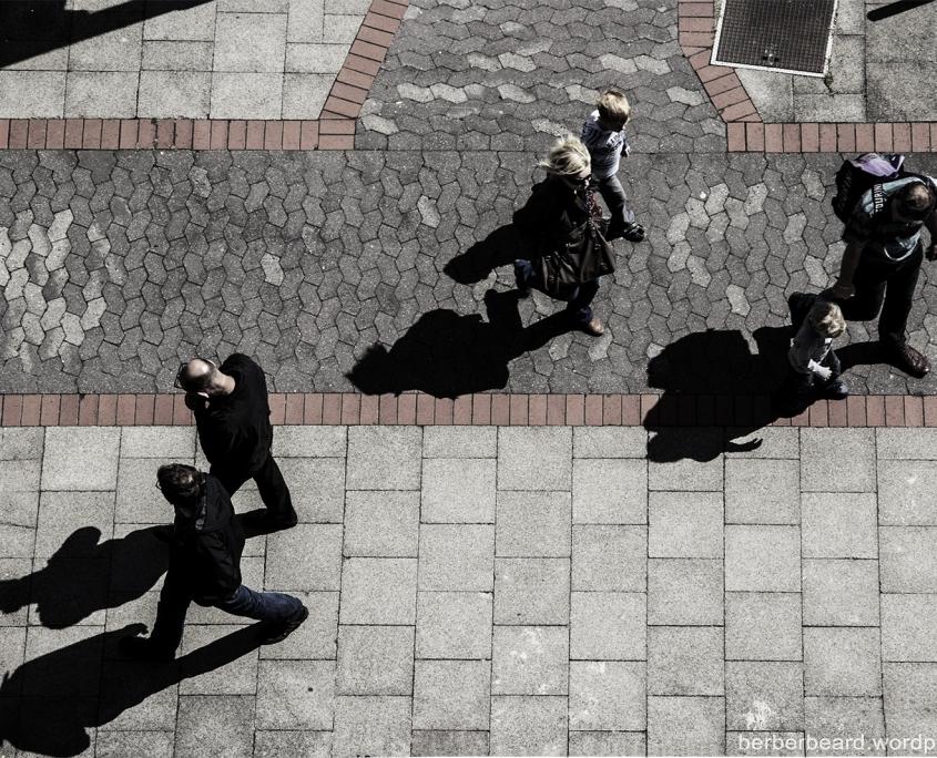 Street - Passanten von oben